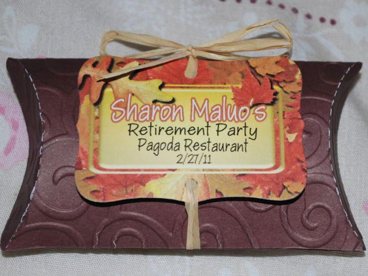Cute retirement party favor idea