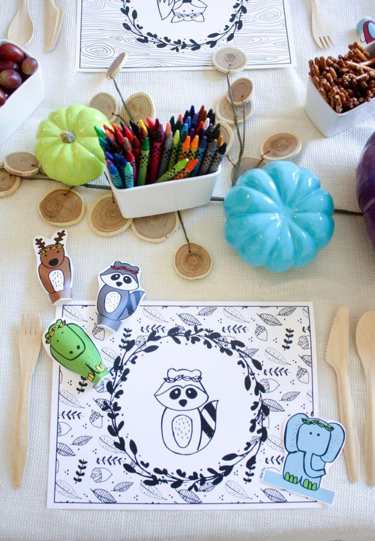 Cute Thanksgiving table decor for kids