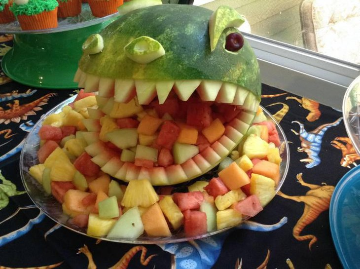 Dinosaur Fruit Themed Baby Shower