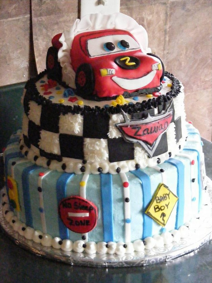 Disney Cars Baby Shower Cake