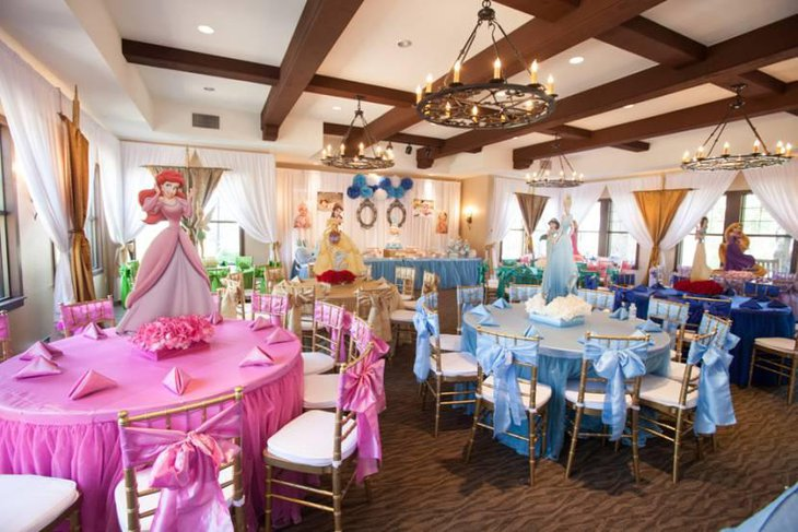 35 Gorgeous Disney Princess Birthday Party Ideas | Table Deocrating Ideas