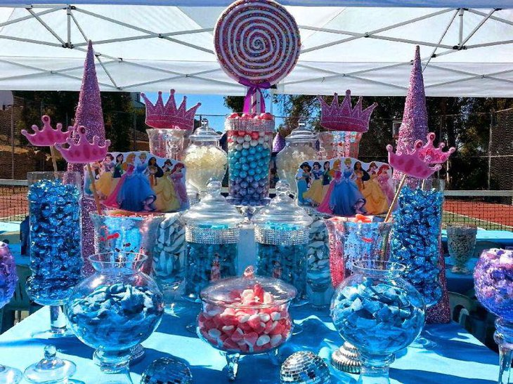 33 blue theme party candy table ideas table decorating ideas. Black Bedroom Furniture Sets. Home Design Ideas