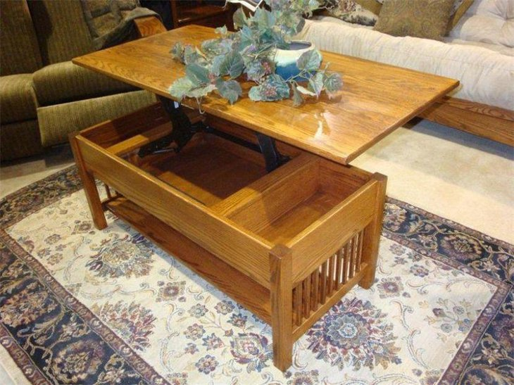 35 creative lift top coffee table ideas for Lift top coffee table building plans