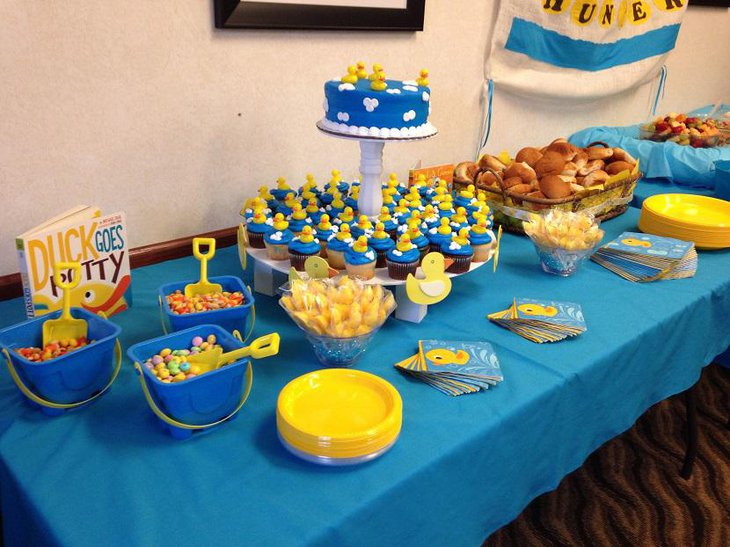 Ducky Lavish and Pretty Spring Baby Shower Idea for Boys