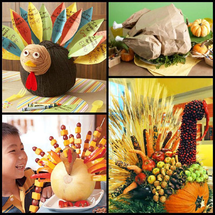 Easy DIY Thanksgiving Table Decoration