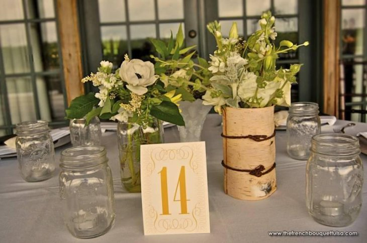 Elegant Mason Jar Candle Votives and Centerpieces