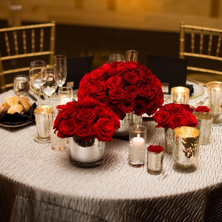 Elegant Valentine Table Setting Using Roses