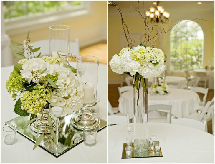 Enchanting White Flower Centerpiece for Wedding