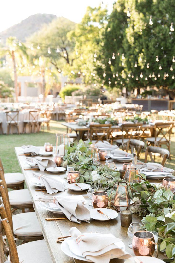 Ethereal table setup for summer garden party