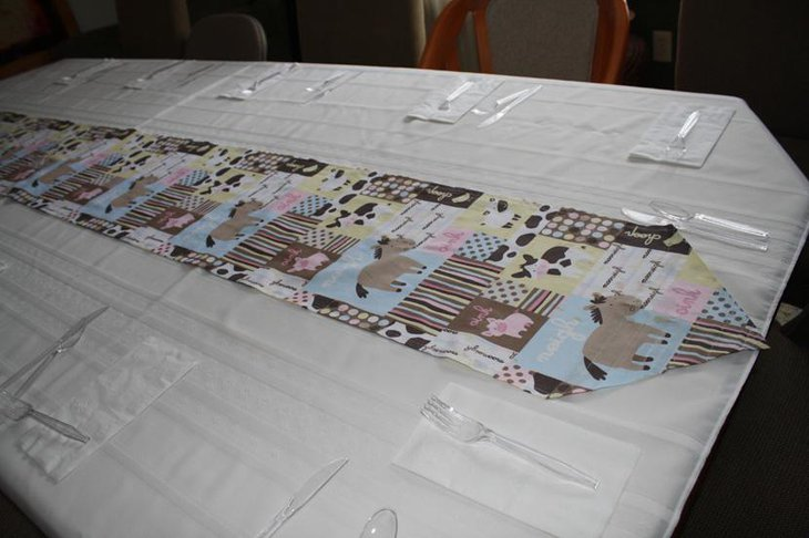 Exclusive Animal Printed Fabric Table Runner