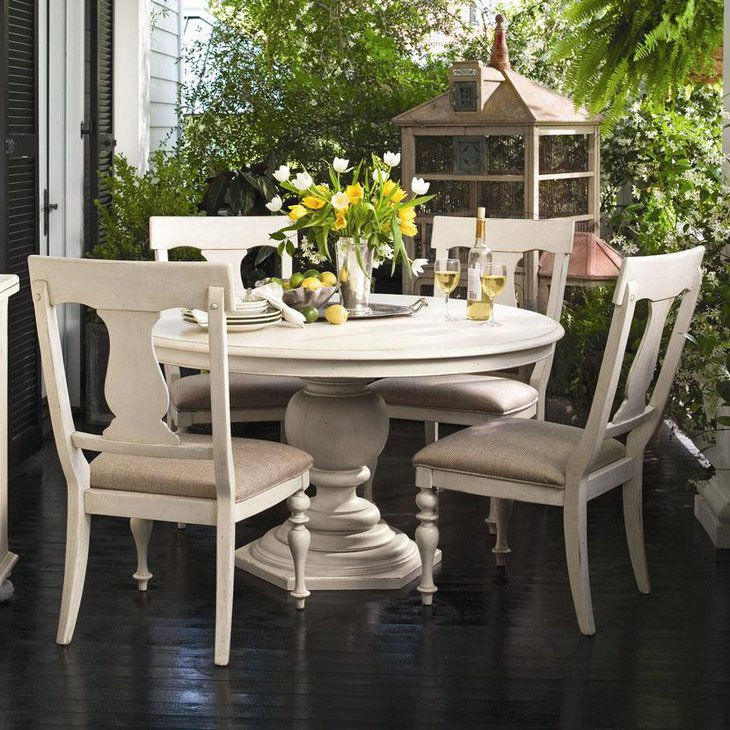 exclusive white round dining table - White Round Dining Table