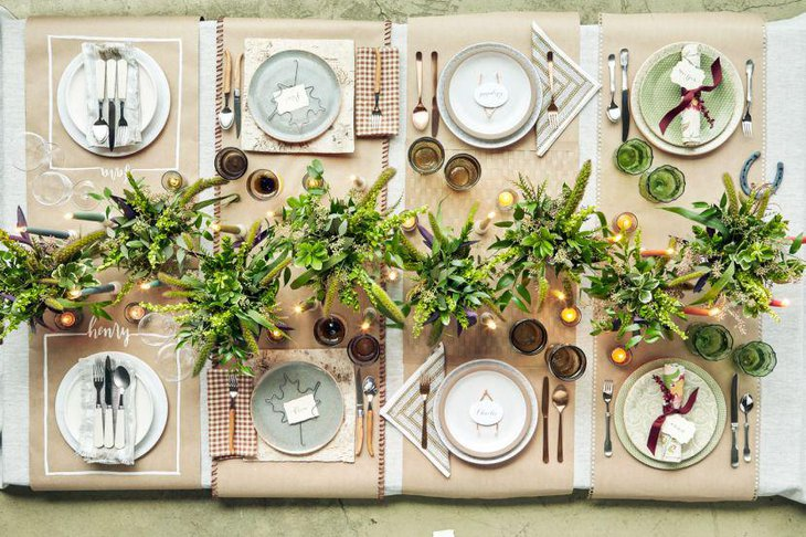 Exquisite table setting for summer garden party