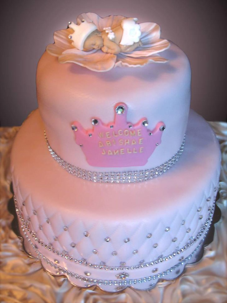 Extravagant princess baby shower cake