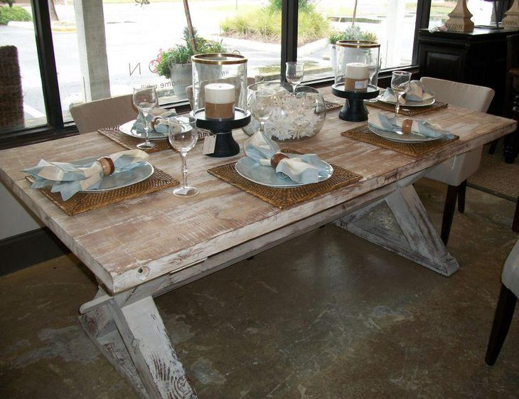 French Rustic DIY Dining Table Using Reclaimed Wood