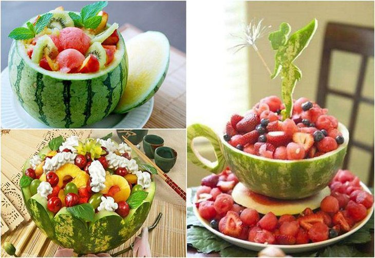 Fruity table decor for an awesome garden party