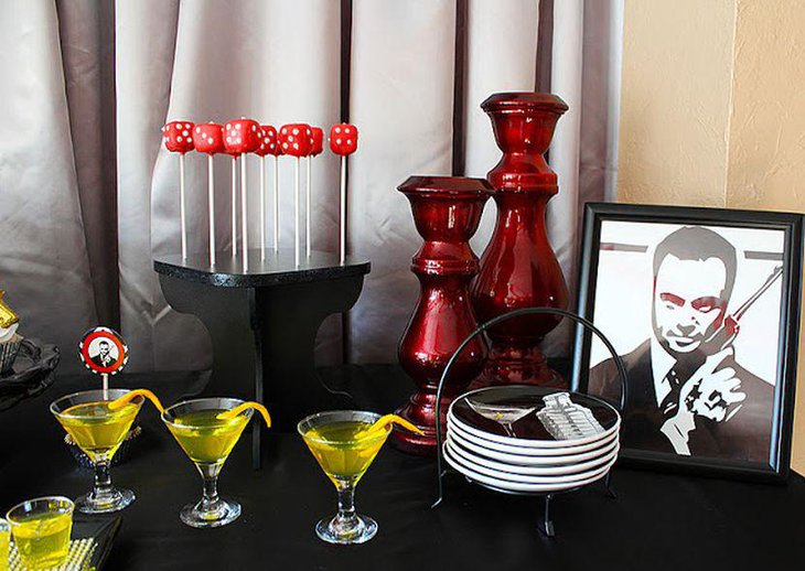 Gangster Themed Birthday Table Decor For Men