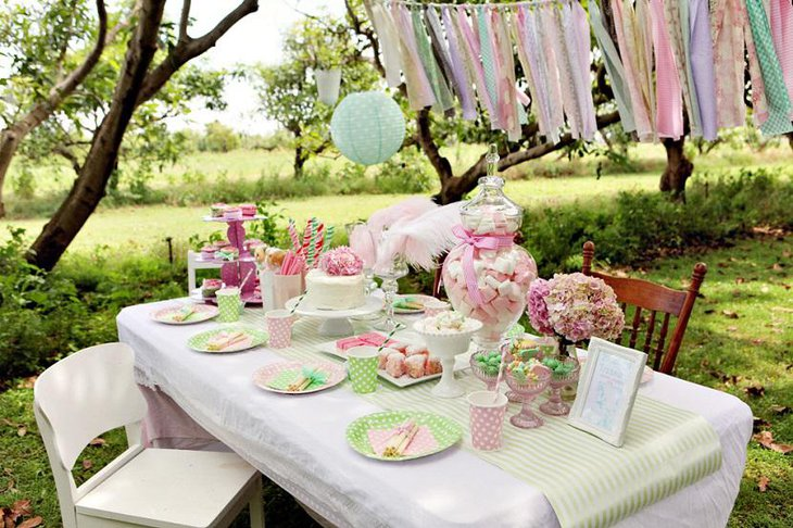 Garden Pink and Green Spring Baby Shower for Boys