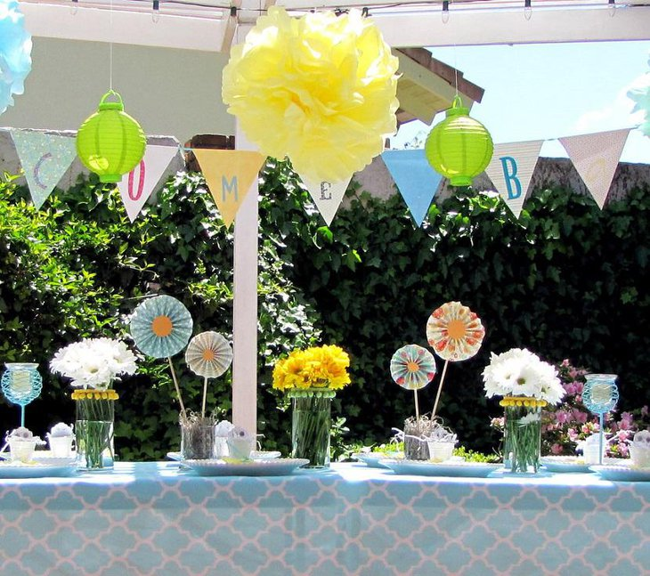 Garden Yellow and Green Spring Baby Shower for Boys