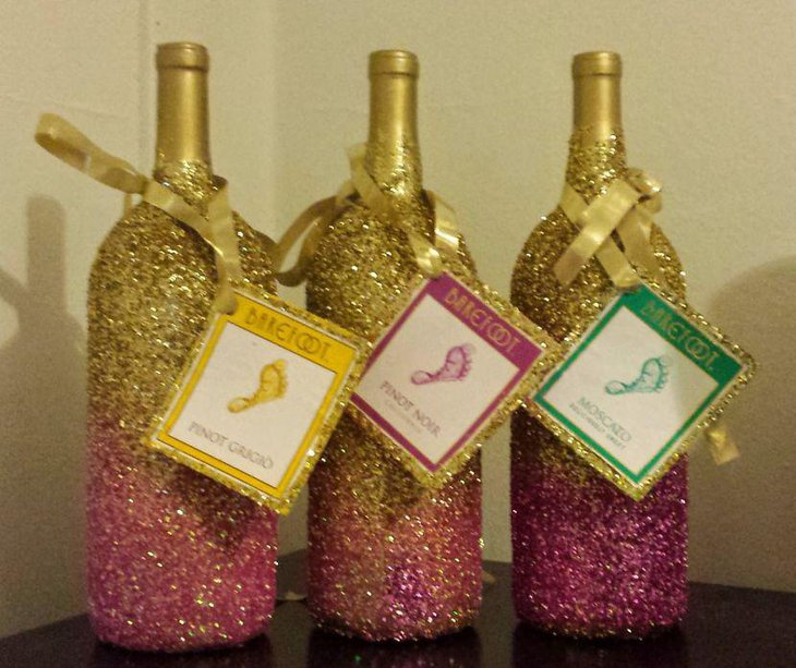 35 diy wedding centerpieces table decorating ideas for How to decorate a bottle with glitter