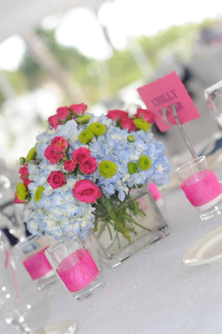 Gorgeous Beach Theme Budget Flower Centerpiece