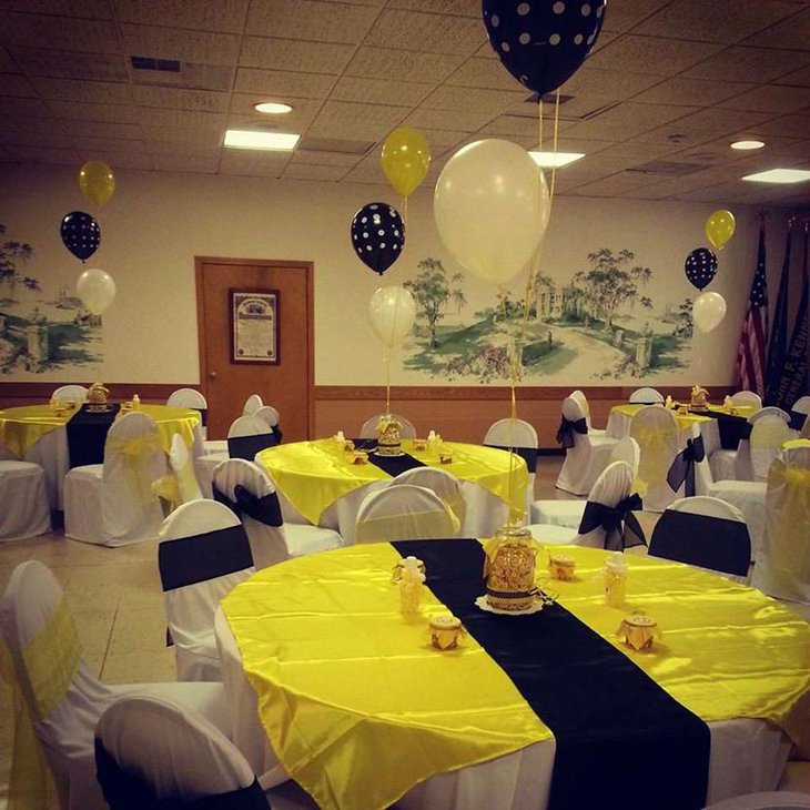 Gorgeous Bee Themed Baby Shower With Balloons
