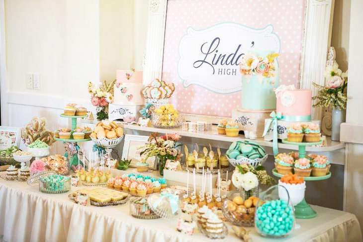 Magnificent 35 Delicious Bridal Shower Desserts Table Ideas Table Home Interior And Landscaping Ologienasavecom