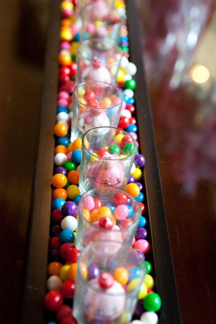 Gorgeous DIY Gumball Wedding Table Centerpiece