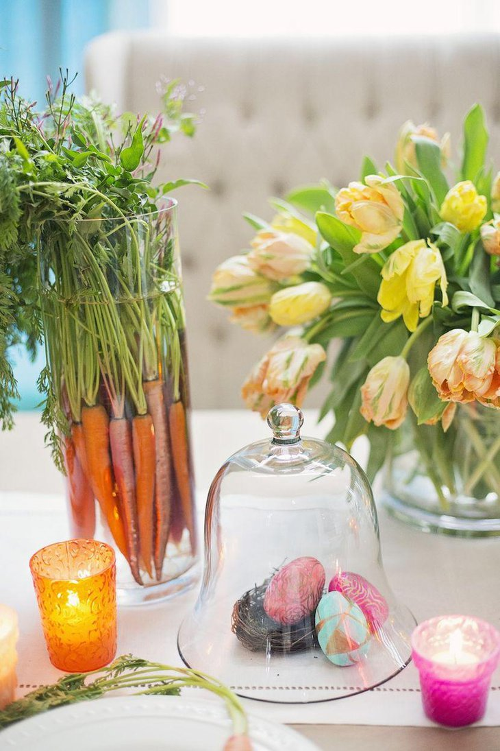 Gorgeous floral decor on spring table