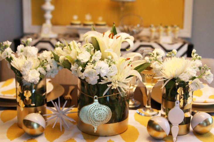 Gorgeous Floral Vase Centerpieces For Christmas Tables