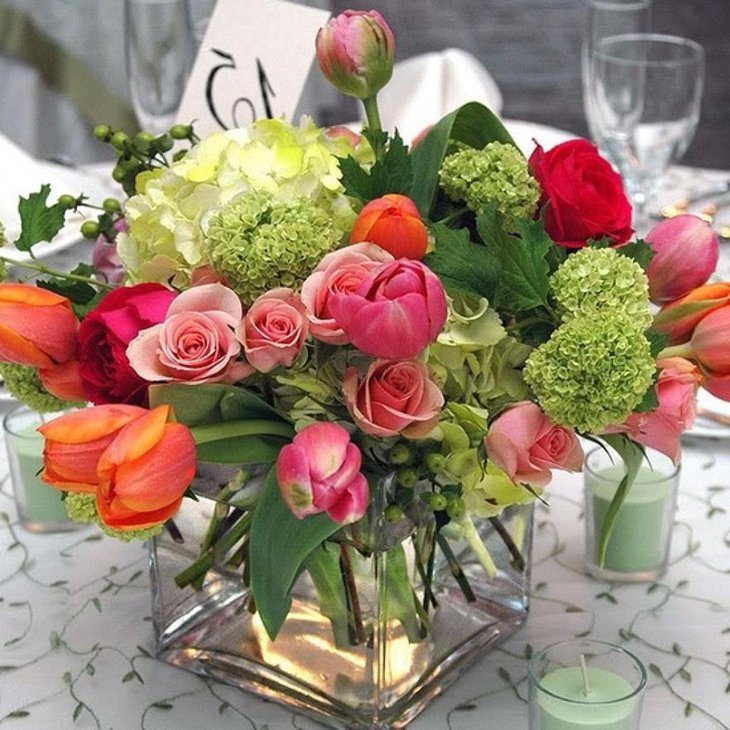 Gorgeous Summer Wedding Centerpiece Decoration