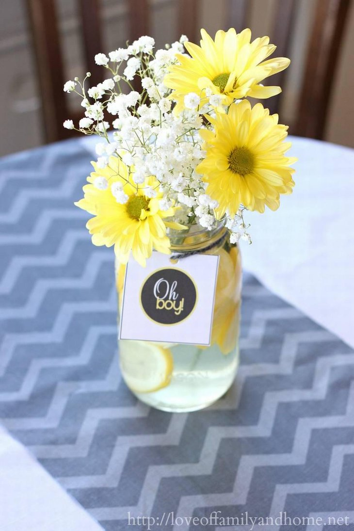 31 baby shower decorating ideas with grey and yellow theme gray yellow baby shower decorations with flowers reviewsmspy