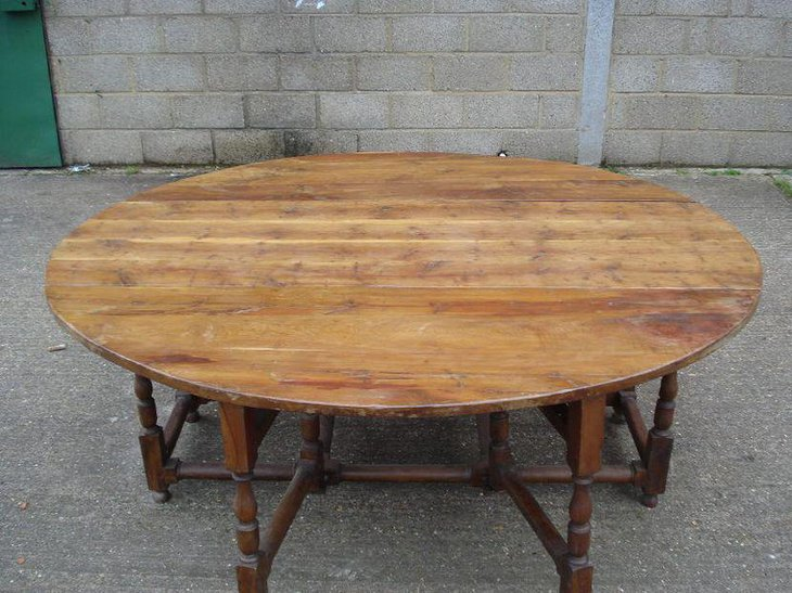 Huge oval drop leaf dining table