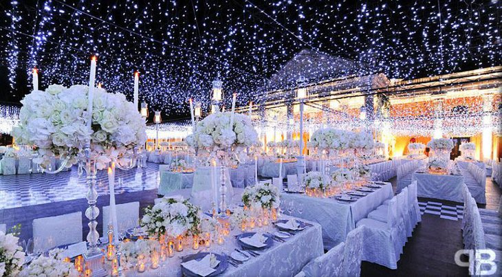 Ice Crystal Centerpiece Ideas For Wonderland Wedding Reception Decor