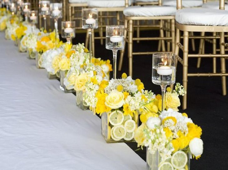 Interesting Budget Flower Wedding Centerpiece