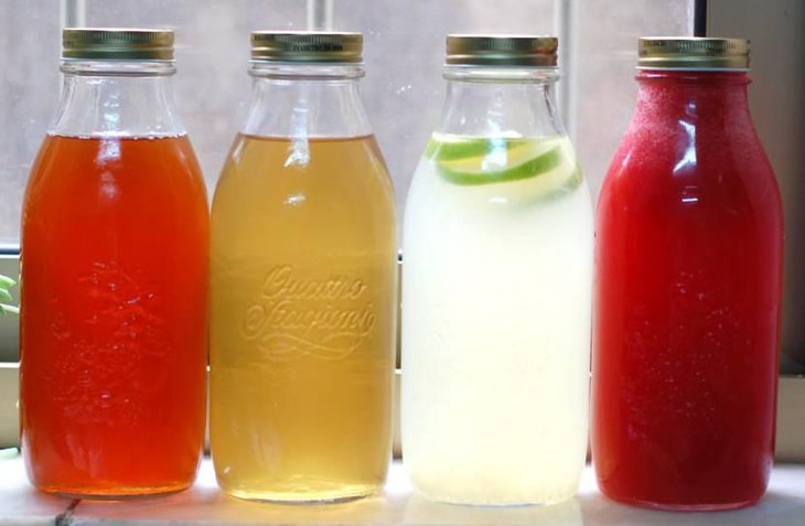Juices Served in Mason Jars