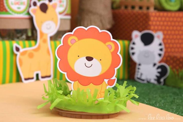 Jungle Theme Baby Shower Animal Decorations
