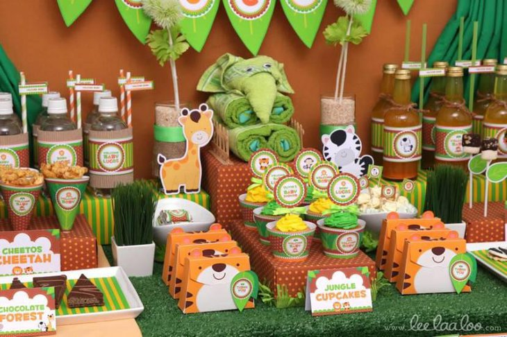 Jungle Theme Baby Shower Decorations