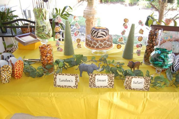 Jungle Themed Candy Buffet Table