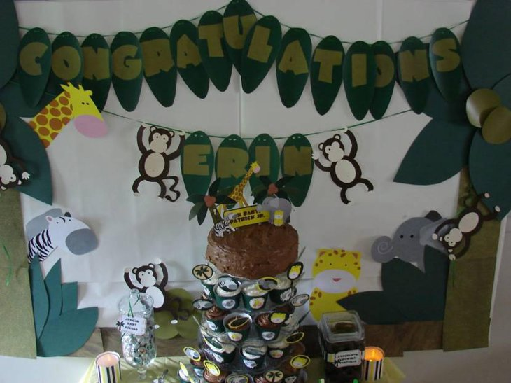 Jungle Themed Centerpieces For Baby Shower