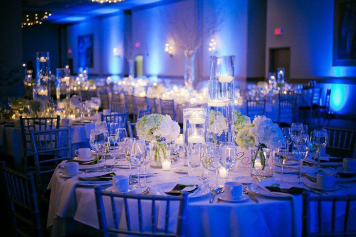 Keep into account the lighting factor when deciding on wedding table centerpieces