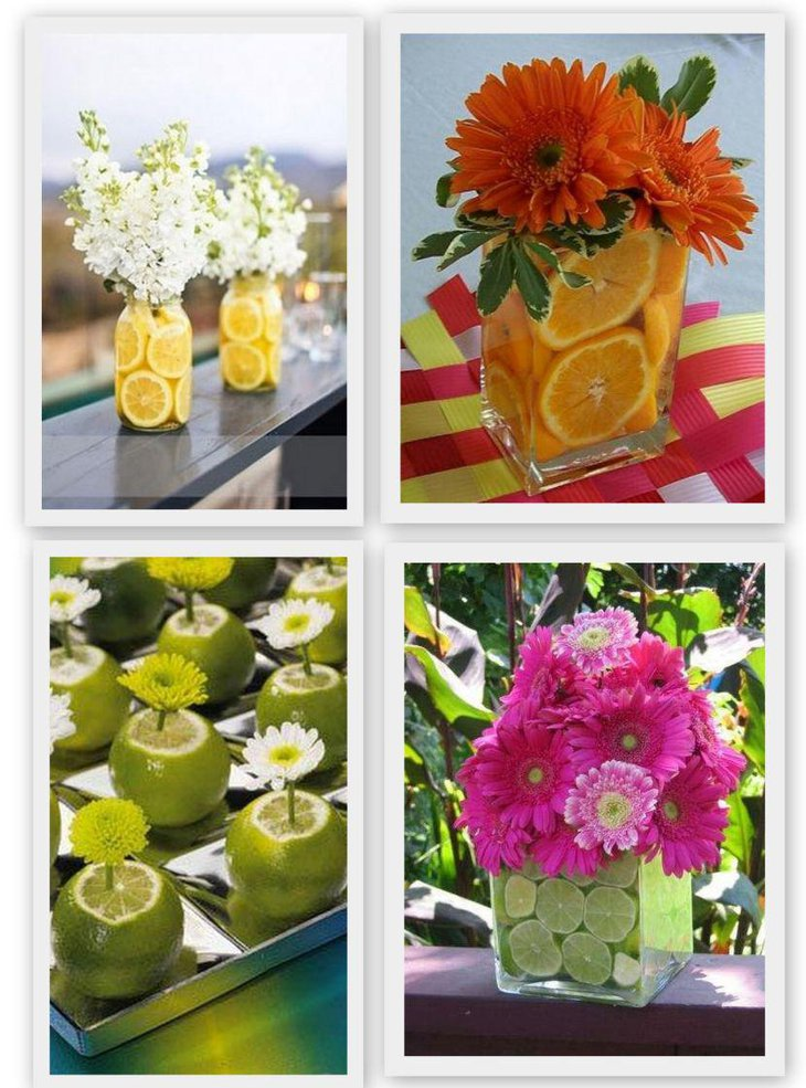 Lemon centerpiece ideas for summer outdoor party