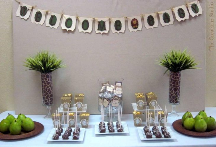 Lion Buffet Baby Shower Jungle Theme
