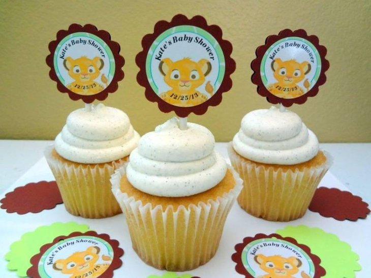 Lion King Safari Personalized Cupcake Toppers