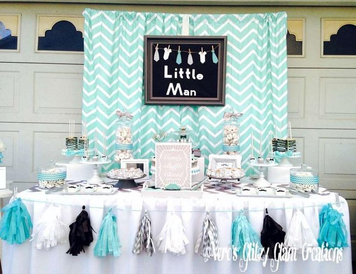 Little Mister Simple Spring Baby Shower Idea for Boy