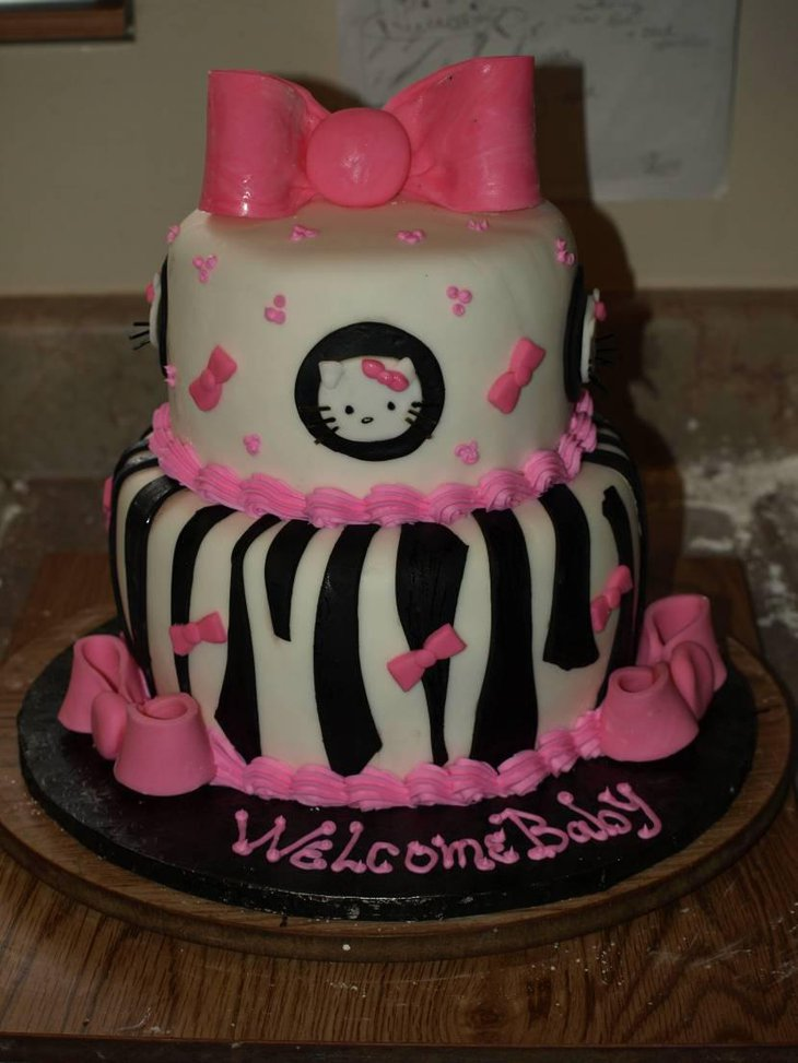 Luscious Hello Kitty Baby Shower Cake