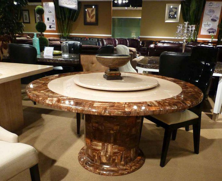 39 Elegant Granite Dining Room Table Ideas Table