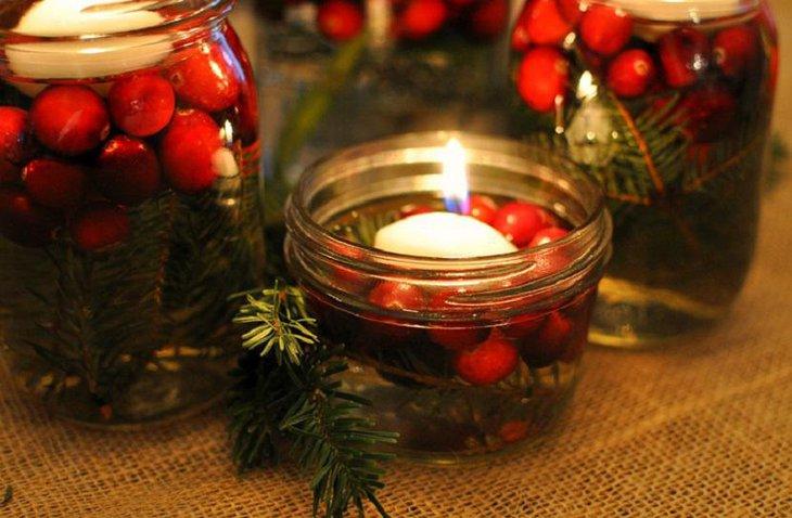 37 Exquisite Mason Jar Christmas Centerpieces Table Decorating Ideas