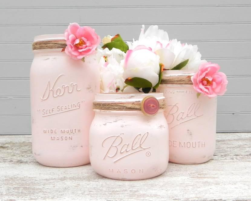 37 Cute Mason Jar Baby Shower Ideas Table Decorating Ideas