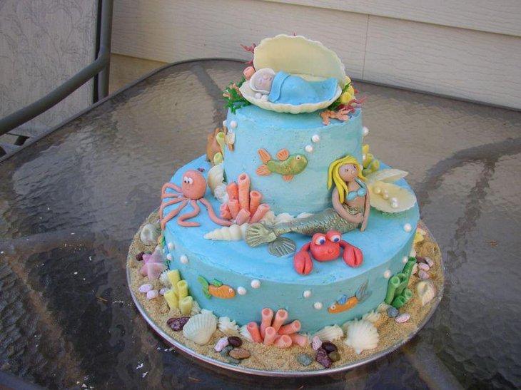 33 Gorgeous Mermaid Baby Shower Ideas | Table Decorating Ideas | 730 x 547 jpeg 75kB