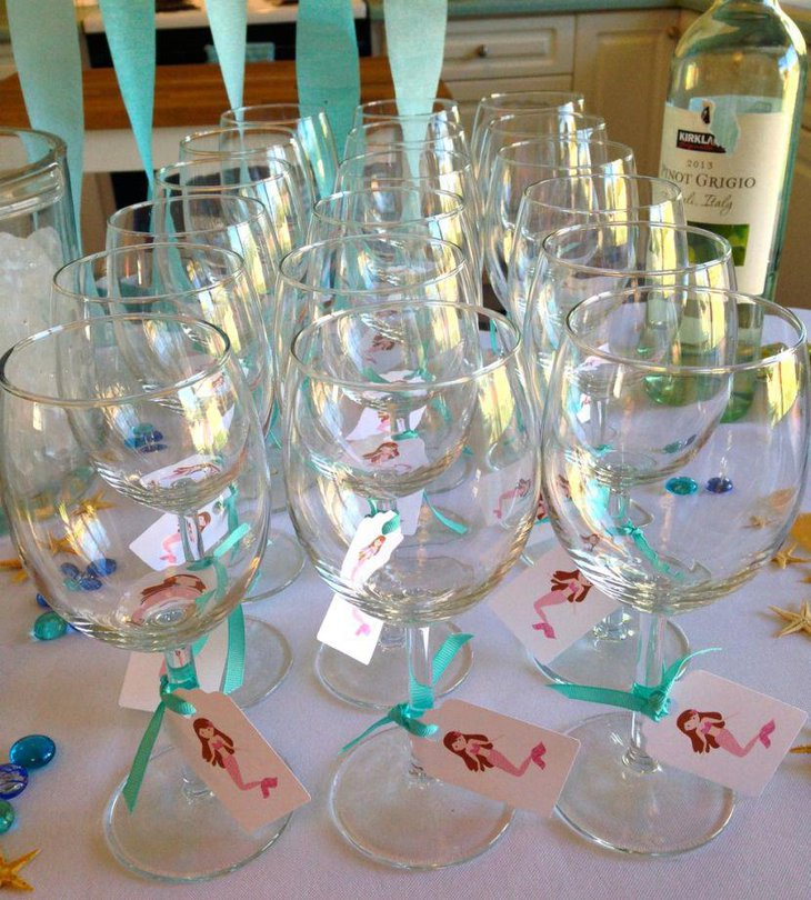 Glass Jar Baby Shower Centerpieces : Gorgeous mermaid baby shower ideas table decorating
